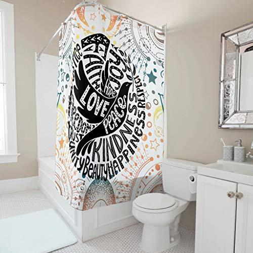Charzee douchegordijn patroon modern waterdicht gordijn badgordijn 100% polyester