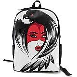 Girl In Raven Mask Bookbag Lässige Reisetasche für Teen Boys Girls