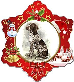 German Shorthair Pointer Porcelain Holiday Ornament