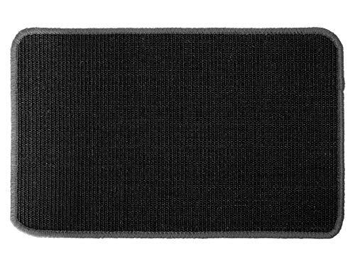 Katzen-Kratzmatte Katzenteppich - Schwarz 40 x 60 cm, Sisal, Langlebige Rutschhemmende Sisal-Matte , Geeignet für Fußbodenheizung, Krallenpflege Sisalteppich für Wand & Boden