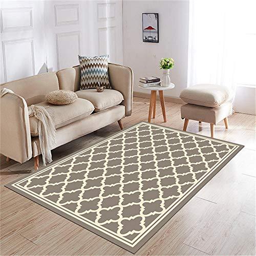 decoracion gamer suelo exterior terraza La alfombra rectangular en la sala de estar es resistente al deslizamiento, al color, a la deformación y a las manchas. alfombras de habitacion 140X200CM 4ft 7.