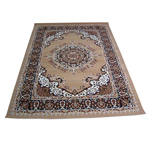 WEBTAPIS Tapis Motif Oriental Tapis Classique Pas Cher Persian 4480-BEIGE cm.180x270