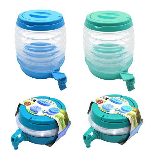 HAC24 2er Set Getränkespender Faltbar 3,5 Liter Limonadenspender Wasserspender mit Zapfhahn Saftspender Getränke Spender