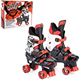 Osprey Boys Quad Skates - Black/White/Red, Size 3-5