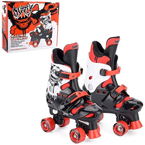Osprey Quad Skates für Kinder, Verstellbare Rollschuhe für Jungen, Rot