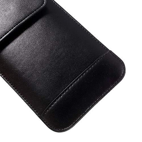 DFVmobile - Gürtel-Fall-Abdeckung Etui Hülle Vertikale mit Doppeltasche für Huawei Ascend D2 D2-0082 (2013) - Schwarz - 4