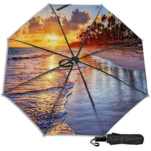 Pengfly Playa arena paraguas puesta del sol plegable rojo nubes paraguas rojo nube sombrilla durable portátil para la lluvia al aire libre