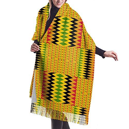 Tengyuntong Pashmina Wrap Manta Bufanda, Mujer Pashmina Bufanda, Biblioteca de Kente Tela Suave de Gran Tamaño Bufanda Estola Chal
