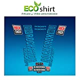 Ecoshirt FZ-QF2K-7LKU Pegatinas Stickers Fork Rock Shox Boxxer 2018 Am180 Aufkleber Decals Autocollants Adesivi Forcela, Azul