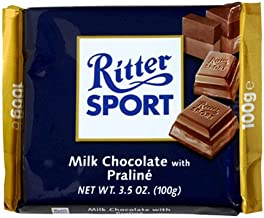 Ritter Sport Bars, Chocolate with Praline and Nougat, 3.5-Ounce Bars (Pack of 13)