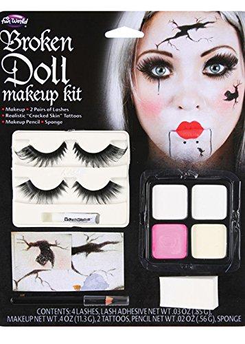 Wicked Costumes Kit de Maquillaje Halloween gótico muñeca Rota