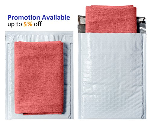 White Poly Bubble mailers 6x9 Padded envelopes 6 x 9 by Amiff. Pack of 10 Poly Cushion envelopes. Exterior Size 7x9 (7 x 9). Peel and Seal. Mailing, Shipping, Packing, Packaging. Photo #8