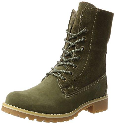 Tamaris Damen 26443 Combat Boots, Grün (Olive), 38 EU