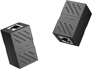 UGREEN RJ45 Coupler 2 Pack In-Line Coupler Cat7/Cat6/Cat5e Ethernet Cable Extender Adapter Female to Female (Black)