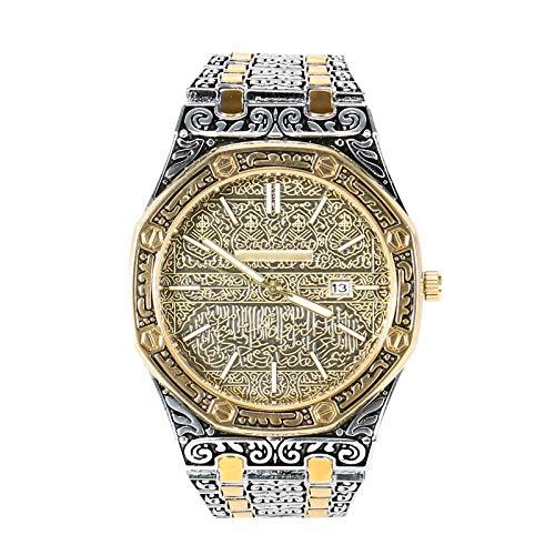 BOLANA Mekka Edition Vintage geschnitzte Uhr Luxus islamische Armbanduhr für Männer Business
