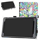 Bige for Lenovo Tab E8 2018 Case,PU Leather Folio 2-Folding Stand Cover for 8' Lenovo Tab E8 TB-8304F Tablet(2018),Love Tree