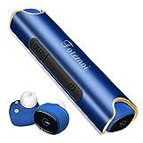Bluetooth イヤホン スポーツ ワイヤレスイヤホン 片耳 両耳とも対応 高音質 カナル型 ワンボタン設計 軽量 防水 防滴 ヘッドセット マイク内蔵 通話可 iPhone&Android対応 (ブルー)
