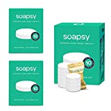 Soapsy Foaming Hand Soap Tablets (30 Tablets) - Effervescent Tablets Soap Refill for Hand Soap Dispenser, Easy & Quick DYI Homemade Soap Just Add Water