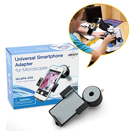 SWIFT Universal-Handy-Adapterhalterung für Mikroskop, kompatibel mit Monokularmikroskop und Spektivteleskop als Smartphone-Mikroskopzubehör, Durchmesser 26 mm