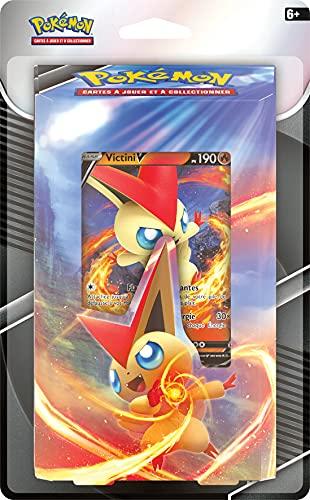 Pokemon Blister Kit d'initiation Mai (Modèle aléatoire) -Jeu de Cartes à Jouer et à Collectionner, POKINI02