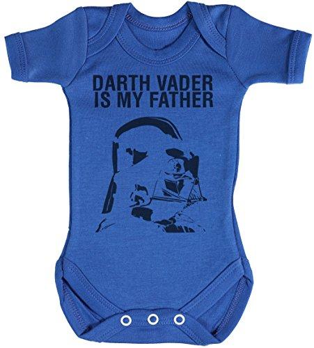 Baby Buddha Darth Vader is My Father Body bébé - Gilet bébé - Body bébé Ensemble-Cadeau - Naissance Bleu