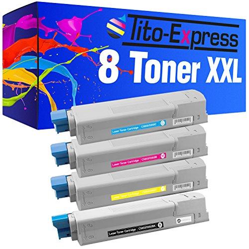 Tito-Express PlatinumSerie 8X Toner-Patrone XXL für Oki C5950 C5850 N C5850 DN C5950 C5950 N C5950 DN C5950 DTN