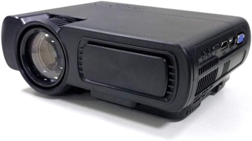 AERJMA Mini LED Projector, Wireless WiFi Same Screen Bluetooth Smart Mini Home Hd 480p Projector Black