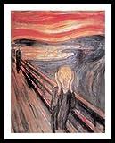 Edvard Munch Der Schrei Poster Kunstdruck Bild mit Alu