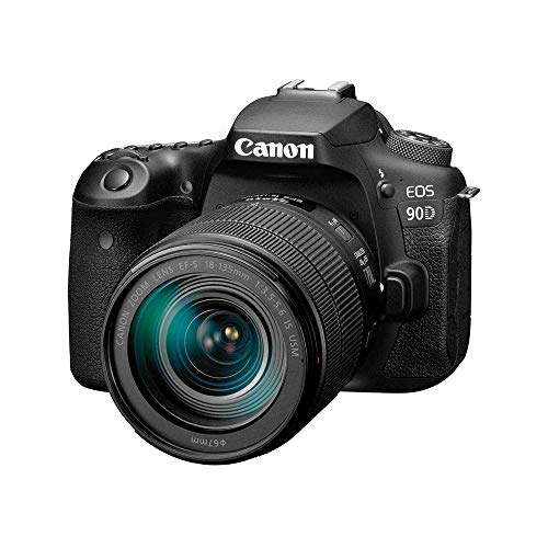 Canon DSLR Camera [EOS 90D] with 18-135 is USM Lens | Built-in Wi-Fi, Bluetooth, DIGIC 8 Image Processor, 4K Video, Dual Pixel CMOS AF, and 3.0 Inch Vari-Angle Touch LCD Screen, Black