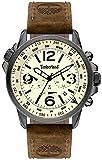 Timberland campton reloj para Hombre Analógico de Cuarzo con brazalete de Piel de vaca 15129JSU-14