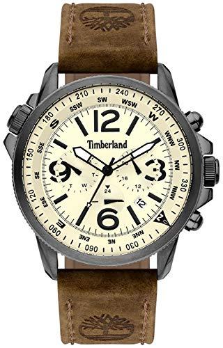 Timberland Reloj Analógico para de los Hombres de Cuarzo con Correa en Cuero TBL.15129JSU/14