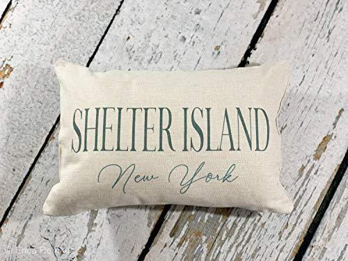 Shelter Island Nueva York, almohada Long Island, The Hamptons, almohada decorativa, decoración de casa de playa, almohada de casa de vacaciones,