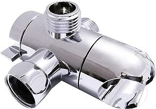 3 Way Shower Diverter Valve Mount 1/2-Inch, SYIDINZN Universal Handheld Shower Arm Diverter Splitter with Shower Head Holder for Handshower Showering Components - Chrome (Shower Arm Mount-A)