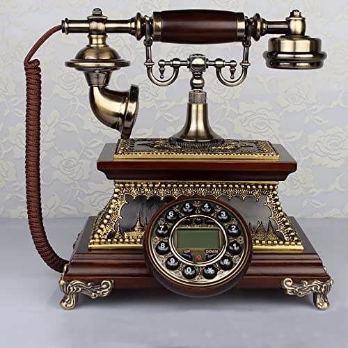 EASYTAO MáQuina con Cable Juego de Esferas CláSicas Golden Fashion de los AñOs 60,TeléFono Antiguo Retro Vintage Pasado de Moda con Dial de BotóN,Esfera Giratoria Funcional Y (Color:Dial de Botones) ✅