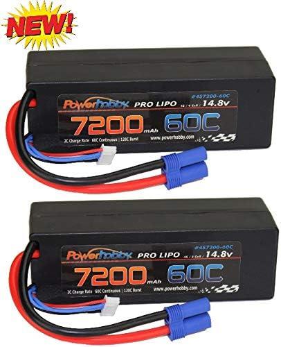PowerHobby 4S 14.8V 7200mAh 60C-120C Lipo EC5 Oakland Mall Har Battery 4-Cell Milwaukee Mall