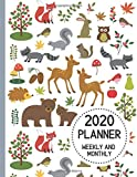 2020 Planner Weekly and Monthly: A 12 Month Agenda Calendar Organizer with Woodland Forest Creatures Animals