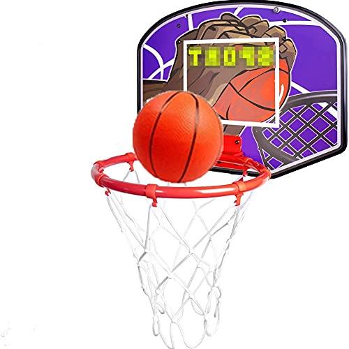 MHCYKJ Sobre la puerta Mini aro de baloncesto para interior para niños y adultos Descomprimir Gadget juguete decoración del hogar regalos niños adolescentes (tamaño: grande)