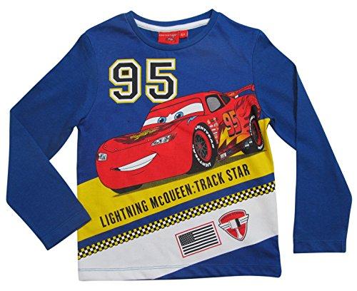 Cars Disney 3 Kollektion 2017 Langarmshirt 92 98 104 110 116 122 128 Shirt Lightning McQueen Blau (Blau, 92-98)