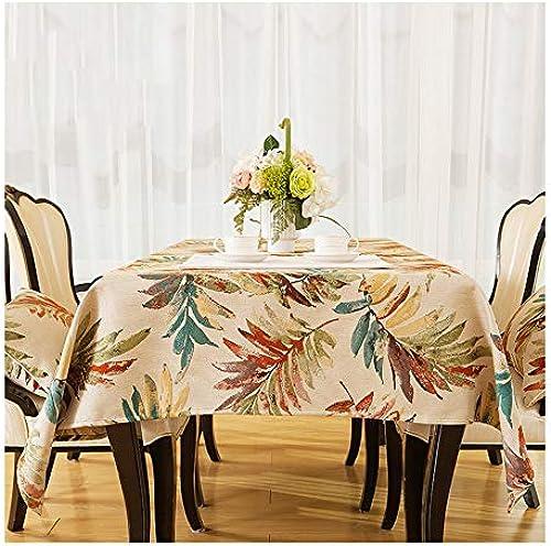 HQQ Neue Stoff Garten Pastoralen Tischdecke EuropäischenAmerikanischen Couchtisch Lange Tischdecke Hochwertige Jacquard Mode Tischdecke (Farbe   A, Größe   130  180cm)