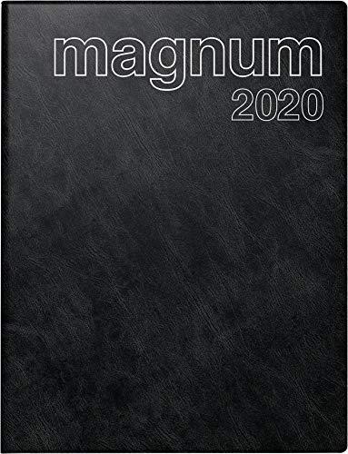 Baier & Schneider rido/idé 702704290 Buchkalender magnum (2 Seiten = 1 Woche, 183 x 240 mm, Schaumfolien-Einband Catana, Kalendarium 2020) schwarz
