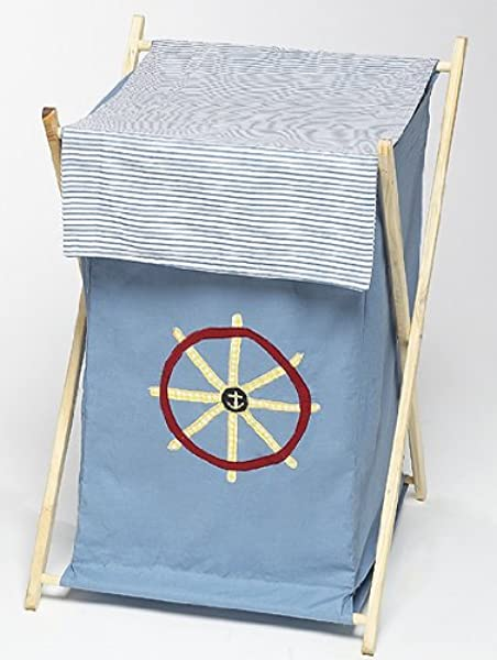 Sweet Jojo Designs Baby And Kids Clothes Laundry Hamper Come Sail Away