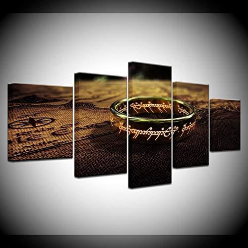 Lienzos El Señor Del Anillo 5 Paneles Lienzo Película Impresión Hd Carteles De Pared Modernos Lienzo Arte Pintura Para La Decoración De La Sala De Estar Del Hogar 30x40x60x80cm