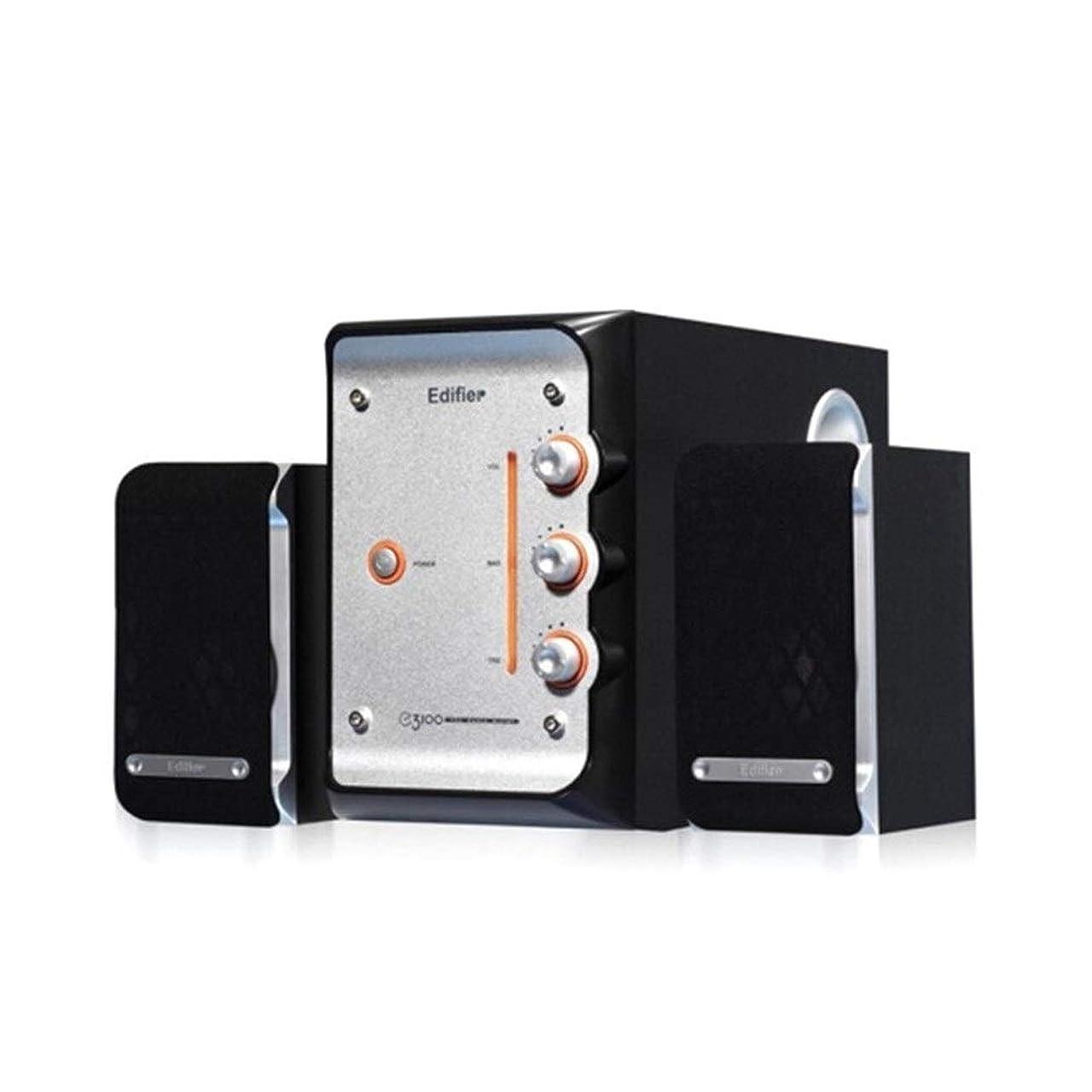 知らせる設置スイッチGUYUEXUAN 2.1チャンネルマルチメディアスピーカーオーディオ、コンピュータのスピーカー、ブラック 持ち運びが容易 (Color : Black)