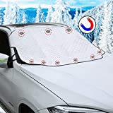 JOYTIME Windshield Snow Cover for Car SUV Truck Windshield Cover for Ice and Snow Sun Shade Frost Guard with Side Mirror Covers Magnetic 4 Layers Full Wiper Protector Extra Large 62