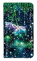 [iPhone12mini] ベルトなし スマホケース 手帳型 ケース アイフォン12ミニ 8185-C. グラスフラワー&ドロップス かわいい 可愛い 人気 柄 ケータイケース ゴシック