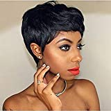 Afro Wigs Short Curly Pixie Cut Wigs for Black Women African American Hair