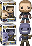 Funko POP! Avengers Infinity War: Captain America + Thanos – Marvel Stylized Vinyl Bobble-Head Figur...