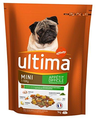 Ultima Croquettes pour Chien Mini (1-10 kg) Adulte Appétit Difficile Poulet 1 kg