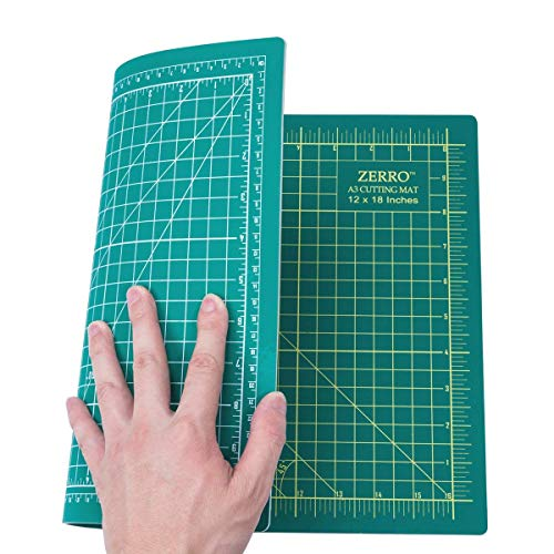 "ZERRO Self Healing Cutting Mat Double Sided Durable 5-Ply 12"" x 18"" (A3)"