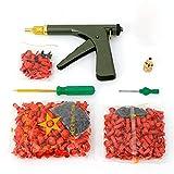 Tire Plug Gun Mushroom Tire Plug Kit Tire Plugger Tubeless Tyre Plug Gun Repair Kit with Rubber Plugs Car Auto Tire Repair Kit, in Dark Green